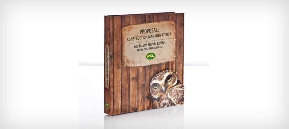 Zoo miami florida exhibit proposal binder with custom for Home construction binder